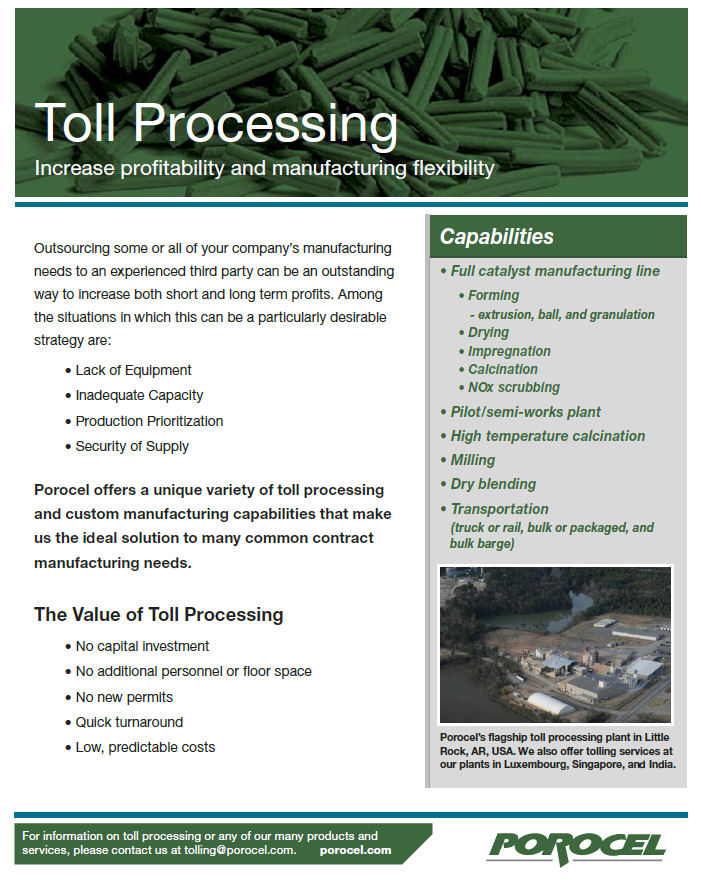 catalyst manufacturing toll processing,catalyst manufacturing line